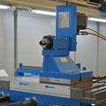 Bearbeitungseinheit mit 20 KW Antriebsleistung auf eine Nullpunktspannsystem montiert.