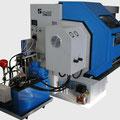 Aufrüstung SLZ-500E mit hydraulischer Hohlspanneinrichtung, Zugrohr, Hydraulik und Druckverstellung von vorne (Bedienerseite)