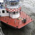 Das Schiff fährt uns zurück nach St.Peter Port.