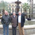 Diese drei haben Barcelona unsicher gemacht: Jürg MIsteli, Marcel Gysin und Bruno Oetterli