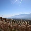 じゃじゃーん!富士山〜南アルプス〜中央アルプス〜北アルプス、一望。すばらしい。