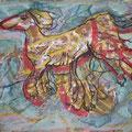 Hund im Glück (1994) Dispersionsfarbe/ Wachskreide auf Papier