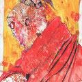 Lippenbekenntnis (2011) Acryl/Tusche auf Papier 21x29,7