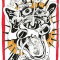 Der Schädellose (2008) Tusche/ Faserstift auf Papier 21,0 x 29,7