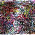Treffen zweier Chaoten (2008) Aquarell/ Tusche auf Papier