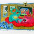 Fernsehnachmittag (2009) Polychromos Farbstifte auf Papier 21,0 x x29,7