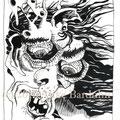Ach du Schreck, Jugend weg! (2010) Tusche auf Papier 12 x 16