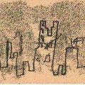 Skyline (1998) Monotypie auf Papier