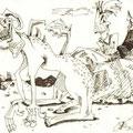 Ungeheuer und Prinzessin (2002) Fineliner auf Papier