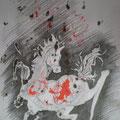 Pferd (2008) Bleistift/ Tinte auf Papier