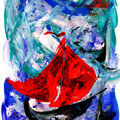 Ein Strum kommt auf (2009) Acryl auf Papier