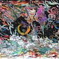 Nchtvogel über stürmischer See (2008) Aquarell/ Tusche auf Papier