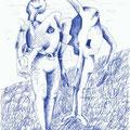 Paar (1998) Kugelschreiber auf Papier 21,0 x 29,7