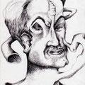 Kopf (1998) Kugelschreiber auf Papier 21,0 x 29,7