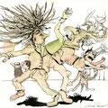 Siam, der Puppenspieler (2009) Aquarell/ Tusche auf Papier