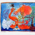 Der Rote Faden (2009) Polychromos Farbstifte auf Papier 21,0 x x29,7