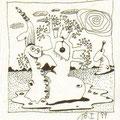 ohne Titel (1999) Fineliner auf Papier