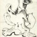 Augenvogel (2000) Bleistift auf Papier 21,0 x 29,7
