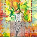 Froschtanz (1998) Wasserfarbe/ Bleistift auf Papier