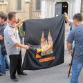 Erste Fahne der KF Millenium Timisoara