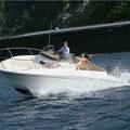 Amura de babor del barco de alquiler en Ibiza