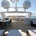Solarium en cubierta para que disfrutes de las vistas mientras navegas.