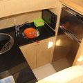 Yate con cocina completa