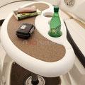 Mesa en bañera barco alquiler a30nudos.es