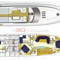 Plano de distribución de la embarcación