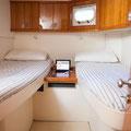 Camarote con dos camas independientes