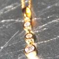 K18ダイヤリングをリモデルして、3個のネックレスに