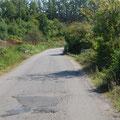 Straße zur Grenze Albanien