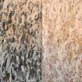 """""""Cuestión de luz y oscuridad"""". T. mixtas sobre tabla. 85 x 122 cada uno. 2010."""