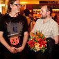 tt1o - Stephan Kimmig und Dennis Kelly mit Wimpel Foto: Piero Chiussi