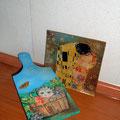 Tagliere Gattino e piatto Klimt