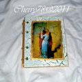 Album portafoto di legno, acrilici, scepolante, finale flatting gel