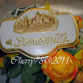 Targa legno di benvenuto, acrilico avorio, foglia oro, tovagliolo, vernice finale spray
