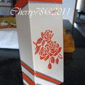 Ceppo coltelli in legno decorato con stencil e ornamenti argento, vernice finale spray