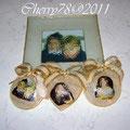 Piatto, cuore e medaglioni personalizzati con foto