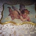 Quadretto legno, soft paper angelo, foglia oro sul bordo,flatting gel finale