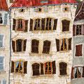 赤い三角屋根の家 652×288cm