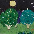月と3本の木  F4