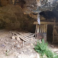 The cave was used as a corral.