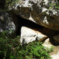 Entrance to the chasm cave.