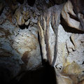 Wall decorations inside the cave.