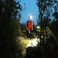 A good headlamp is necessary to find the way back!