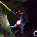 Andreas Korikis descending into the Tripa tou Pelaou cave (spring 2019).