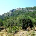 The Skotini Grava cave high above the village of Skripero.