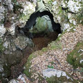 The entrance to the horizontal cave.