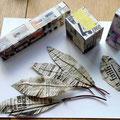 Jeux de papier - Plumes